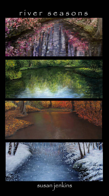 Landscape Poster featuring the pastel River Seasons by Susan Jenkins