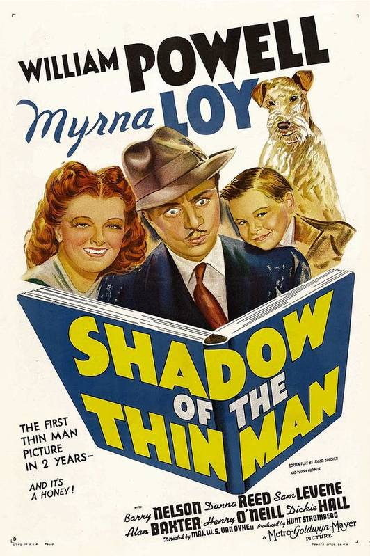1940s Movies Poster featuring the photograph Shadow Of The Thin Man, Myrna Loy by Everett