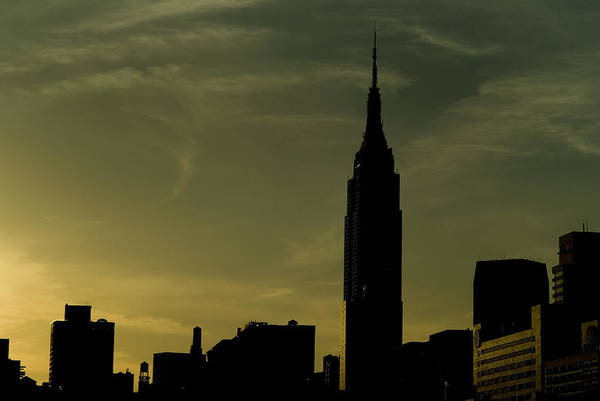 New York City Poster featuring the photograph Silhouette Of Empire State Building by Todd Gipstein
