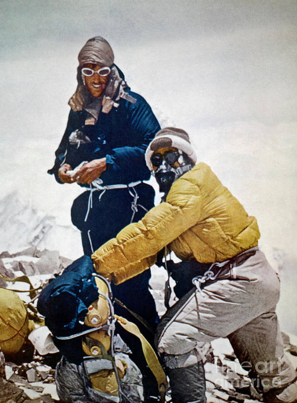 1953 Poster featuring the painting Sir Edmund Hillary by Granger