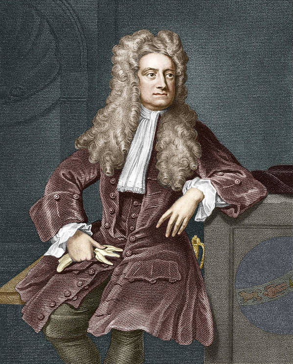 Isaac Newton Poster featuring the photograph Sir Isaac Newton, British Physicist by Sheila Terry