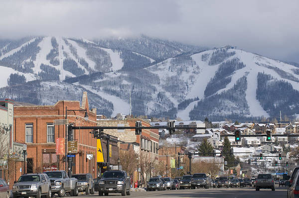 Ski Resorts Poster featuring the photograph Ski Resort And Downtown Steamboat by Rich Reid