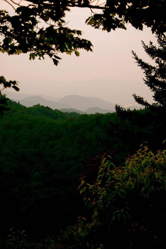Smokey Poster featuring the photograph Smokey Mountains At New Found Gap by Kimberly Camacho