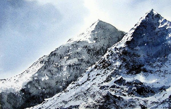 Snowdon Poster featuring the painting Snowdon by Paul Dene Marlor