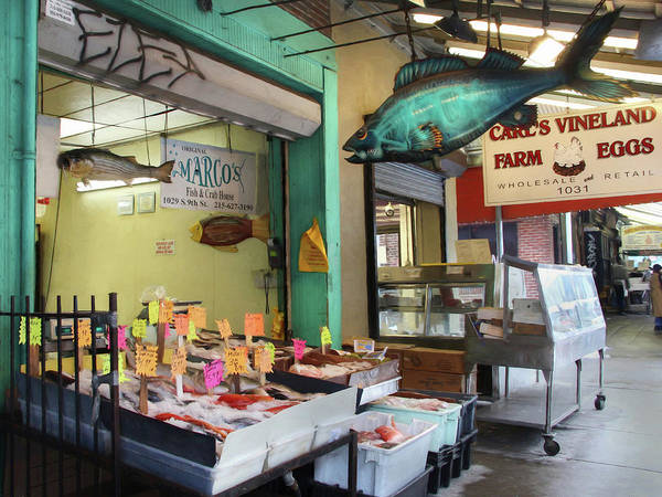 Fish Market Poster featuring the photograph Something's Fishy by Lori Deiter