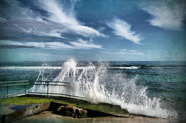 Waves Poster featuring the photograph Splash Happy by Kym Clarke