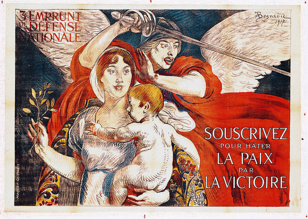 Paul Albert Besnard Poster featuring the painting Subscribe To Hasten Peace By Victory by Paul Albert Besnard
