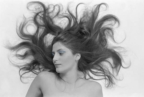 Woman; Glamor; Glamour; Beauty; Bueautiful; Pretty; Skin; Portrait; Nude; Hair; Fashion; Model; Sexy; Sexual; Black & White; B&w; Female; Sensual; Sensuality; Model; Medusa; Mystical; Sorceress Poster featuring the photograph Swirl Girl by Gerard Fritz