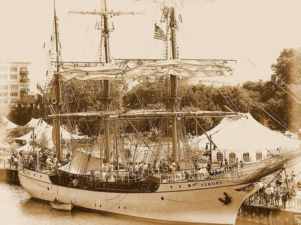 Hovind Poster featuring the photograph Tall Ship Series 6 by Scott Hovind