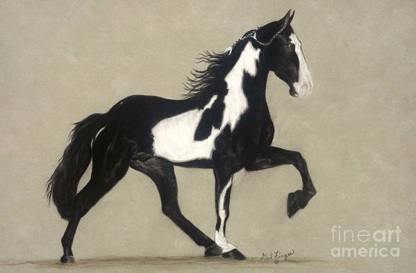 Horse Poster featuring the pastel Tennessee Walker by Gail Finger