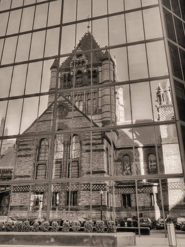 Boston Massachusetts Poster featuring the photograph The Church by JC Findley
