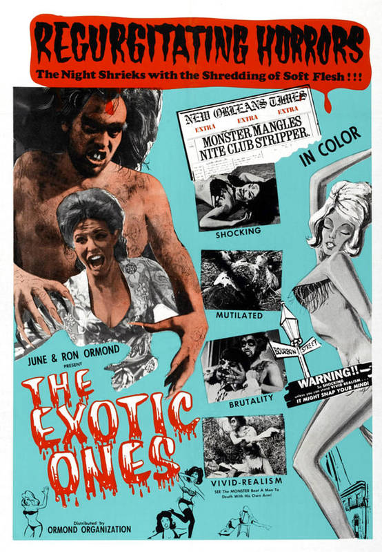 1960s Movies Poster featuring the photograph The Exotic Ones, Aka The Monster And by Everett