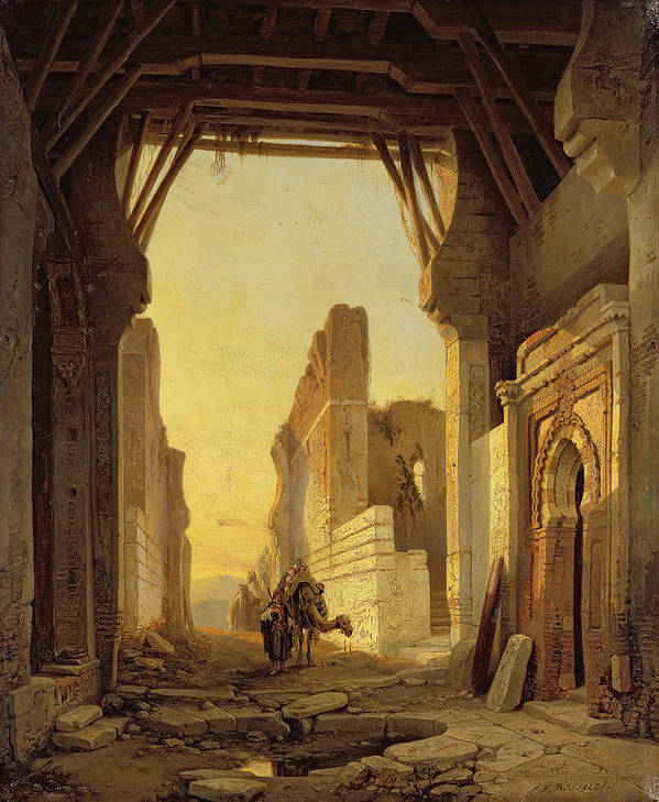 Craks Poster featuring the painting The Gates Of El Geber In Morocco by Francois Antoine Bossuet