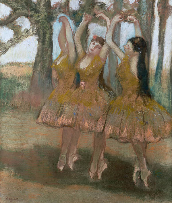 The Greek Dance Poster featuring the painting The Greek Dance by Edgar Degas