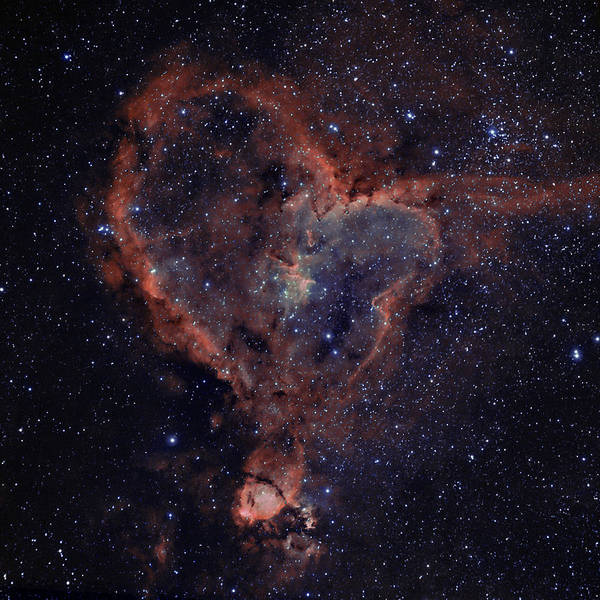 Astronomy Poster featuring the photograph The Heart by Charles Warren