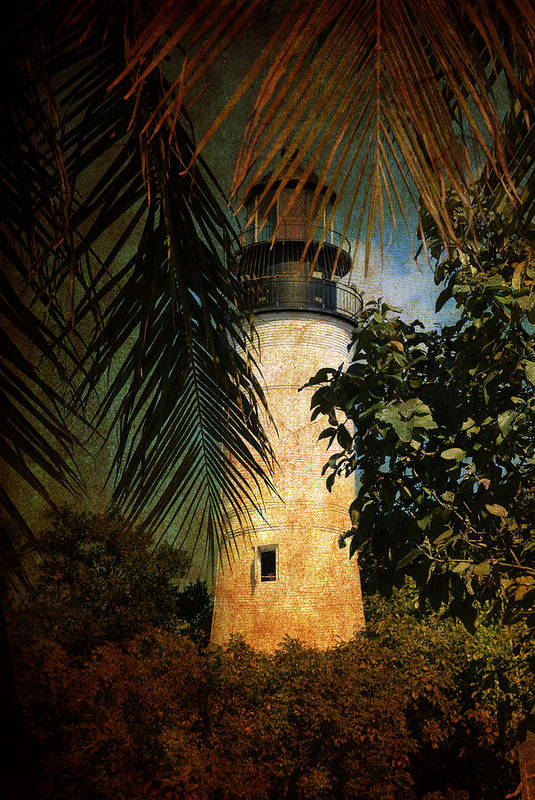 Lighthouse Poster featuring the photograph The Lighthouse In Key West by Susanne Van Hulst