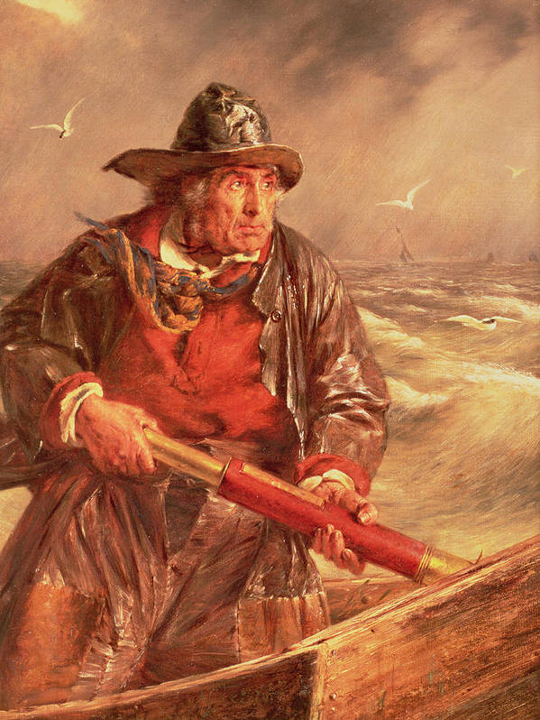 The Poster featuring the painting The Mariner by Erskine Nicol