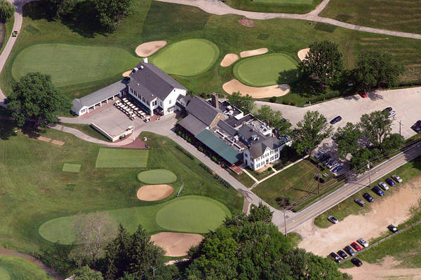 Aerial Poster featuring the photograph The Philadelphia Cricket Club Wissahickon Clubhouse by Duncan Pearson