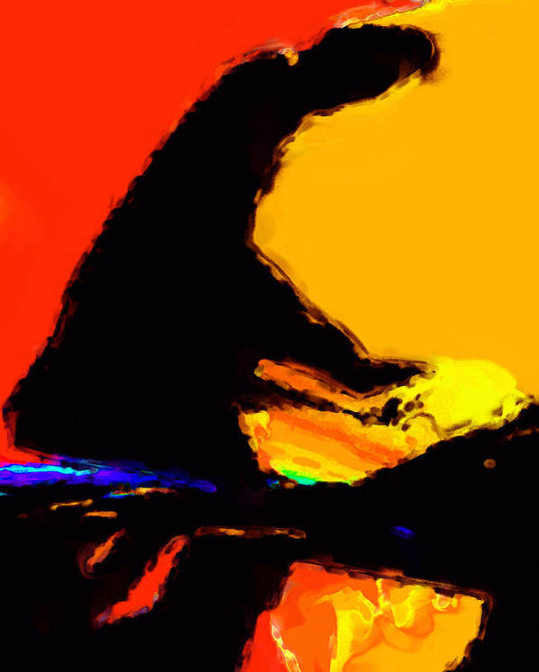 Abstract Poster featuring the digital art The Pianist by Richard Rizzo
