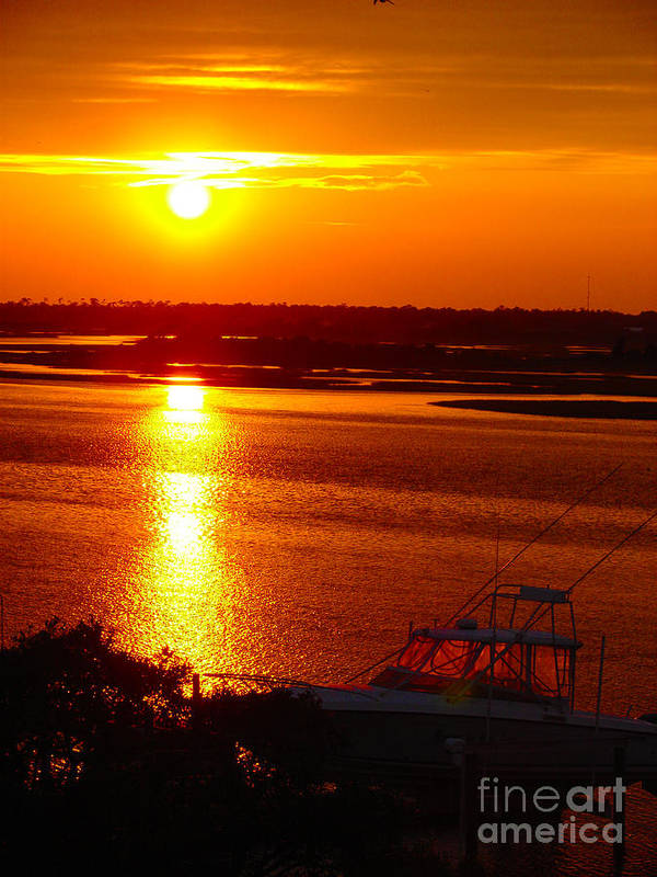 Topsail Poster featuring the photograph The Sound Of Sunset by Laura Brightwood
