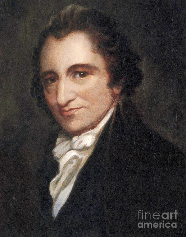 America Poster featuring the photograph Thomas Paine, American Founding Father by Photo Researchers