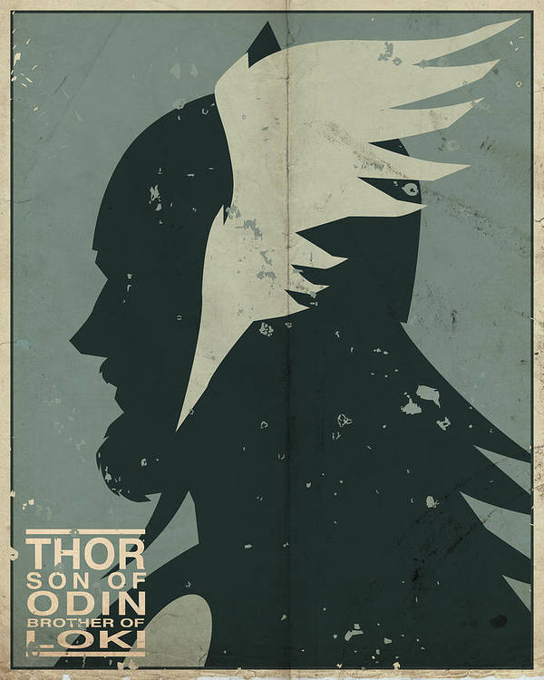 Thor Poster featuring the digital art Thor by Michael Myers