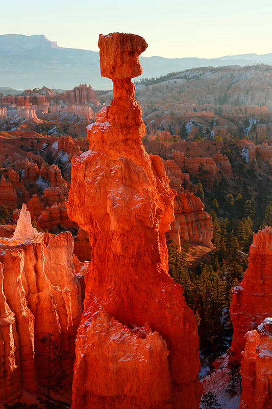 Bryce Poster featuring the photograph Thor's Hammer At Sunrise by Pierre Leclerc Photography