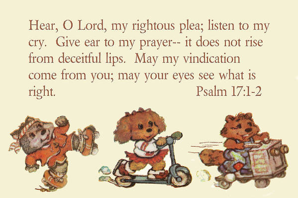 Scripture Poster featuring the photograph Three Animal Characters Ps. 17 V 1-2 by Linda Phelps