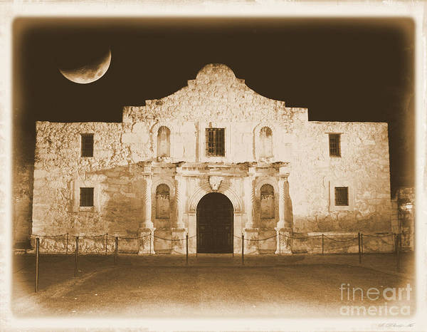 The Alamo Poster featuring the photograph Timeless Alamo by Carol Groenen