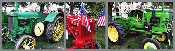 Tractors Poster featuring the photograph Tractor Triptych - Utah State Fair by Steve Ohlsen