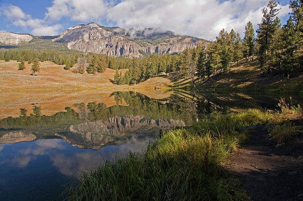 Horizontal Poster featuring the photograph Trout Lake, Yellowstone National Park by DBushue Photography