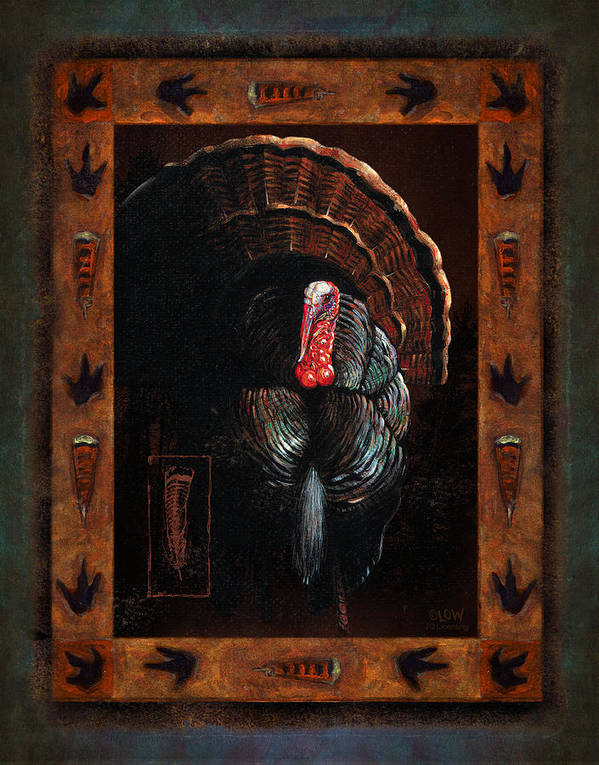 Wildlife Poster featuring the painting Turkey Lodge by JQ Licensing