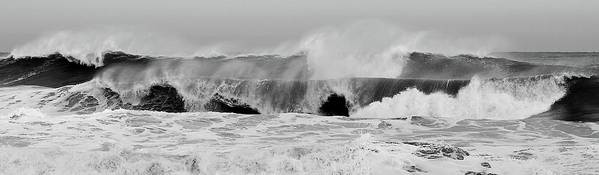 Two Waves Poster featuring the photograph Two Waves Are Better Than One - Jersey Shore by Angie Tirado