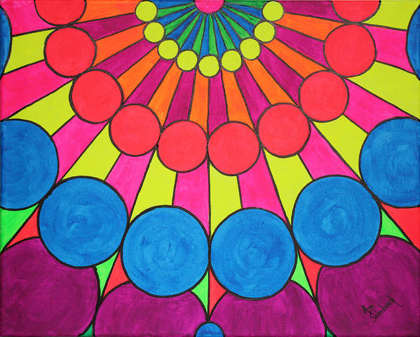 Pop Art Poster featuring the painting Universal Flower 2 by Ann Sokolovich
