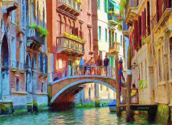 Architecture Poster featuring the painting View From The Canal by Jeff Kolker
