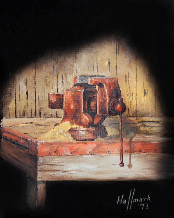 Bob Hallmark Poster featuring the painting Vise by Bob Hallmark