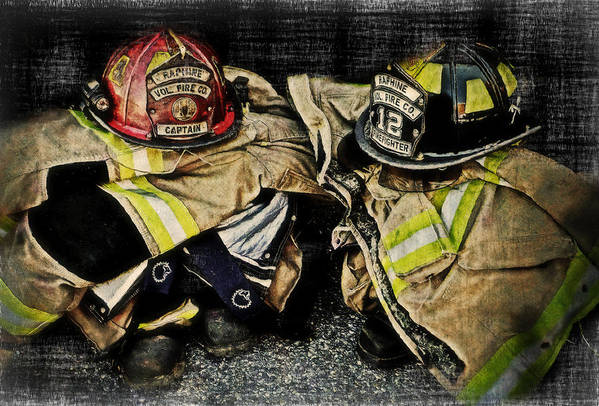 Firefighter Poster featuring the photograph Volunteering To Make A Difference by Kathy Jennings