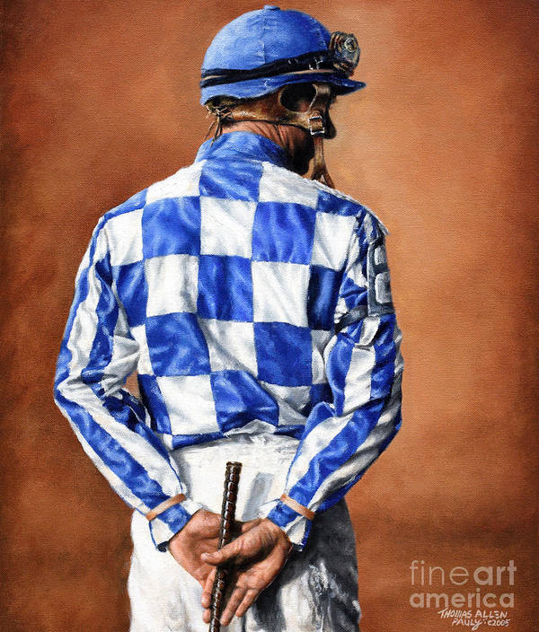 Secretariat Poster featuring the painting Waiting For Secretariat by Thomas Allen Pauly