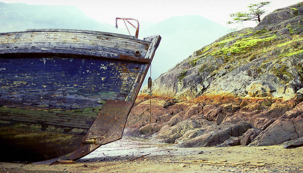 Boat Poster featuring the photograph Washed Up by John Bartosik