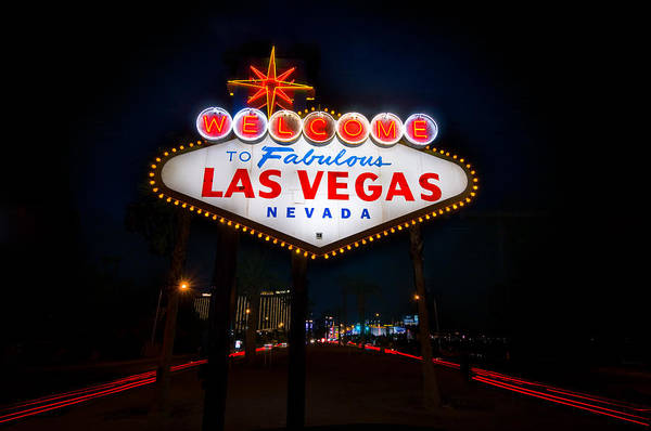 Casino Poster featuring the photograph Welcome To Las Vegas by Steve Gadomski