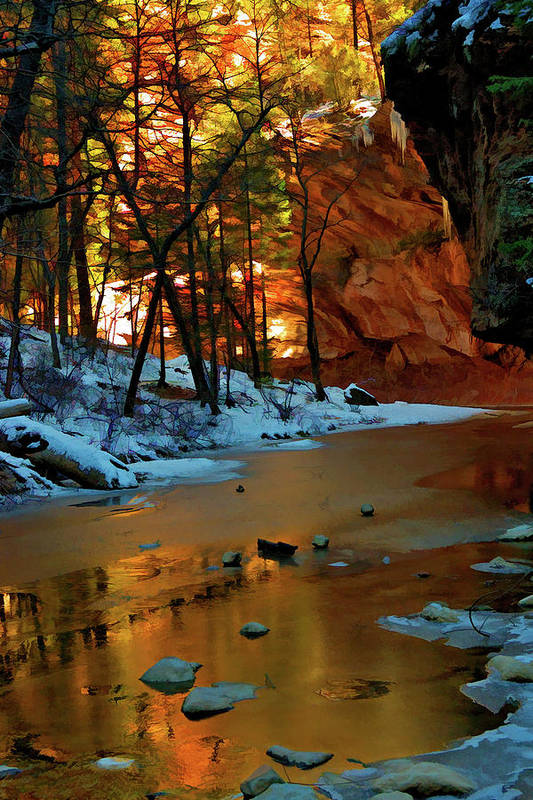 Sedona Poster featuring the photograph West Fork 07-044 by Scott McAllister