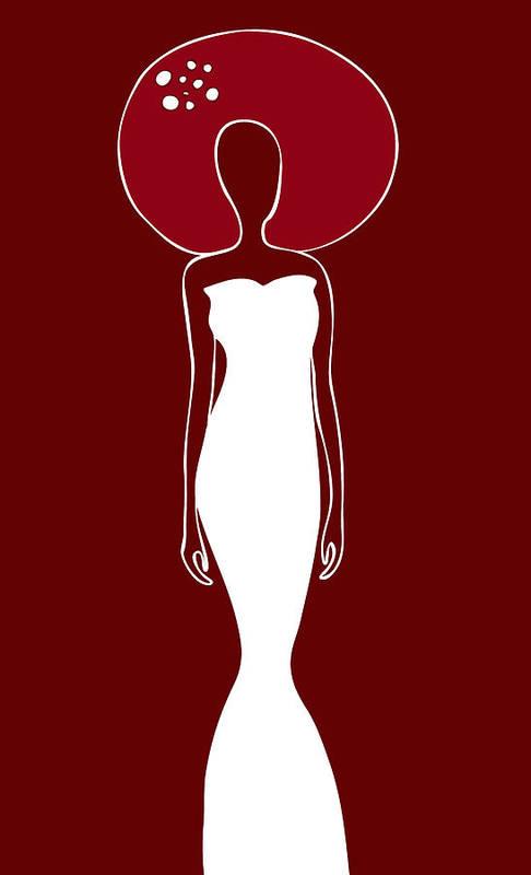 Frank Tschakert Poster featuring the painting White Dress by Frank Tschakert