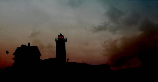 Lighthouse Poster featuring the photograph Wicked Dawn by Lori Deiter