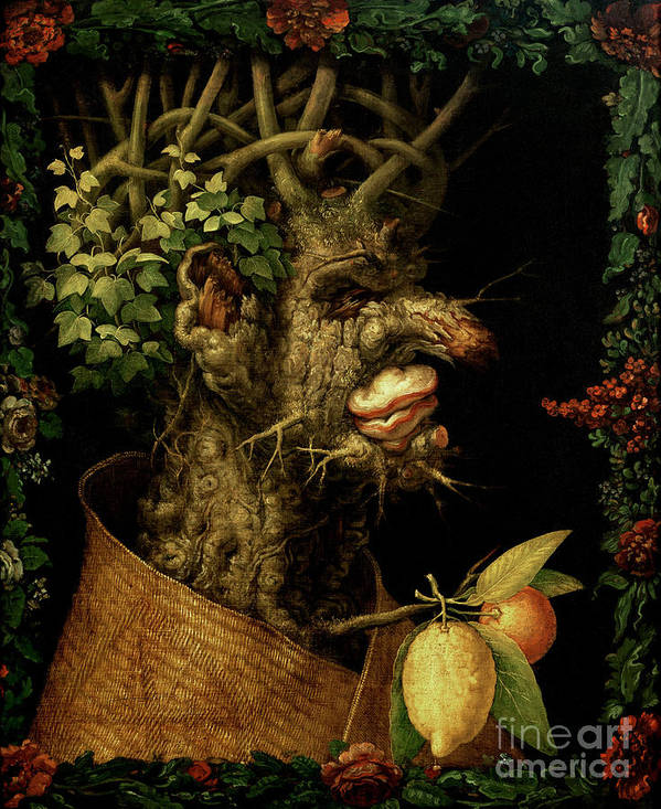 Winter Poster featuring the painting Winter by Giuseppe Arcimboldo