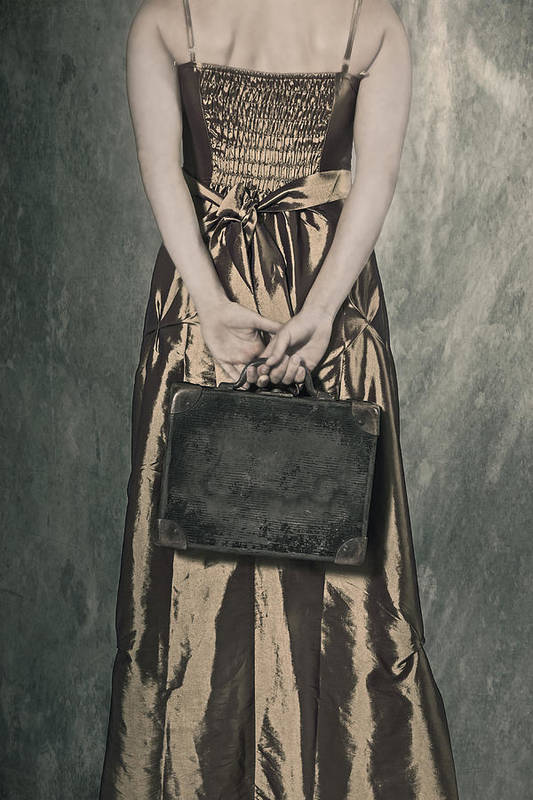 Female Poster featuring the photograph Woman With Suitcase by Joana Kruse