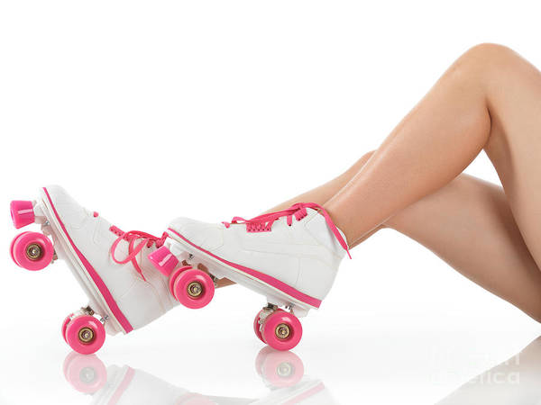 Young Woman Wearing Roller Derby Skates Poster by Oleksiy Maksymenko
