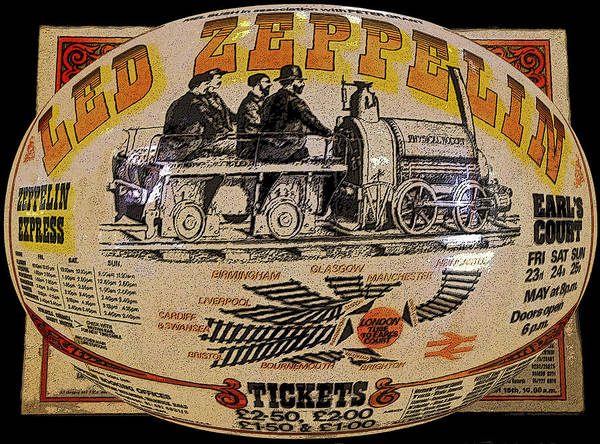 Art Poster featuring the painting Zeppelin Express Work B by David Lee Thompson