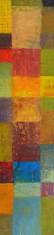 Abstract Print featuring the painting Rustic Layers 2.0 by Michelle Calkins