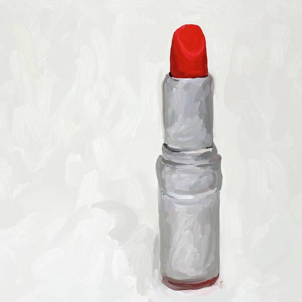 Lipstick Print featuring the painting Lipstick I by Jai Johnson