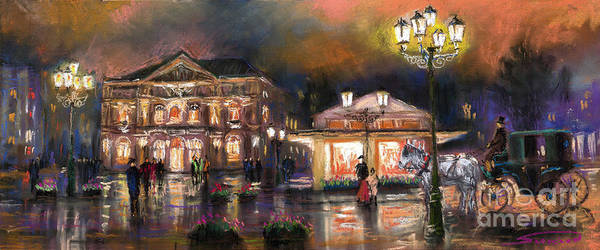 Pastel Print featuring the painting Germany Baden-baden 14 by Yuriy Shevchuk